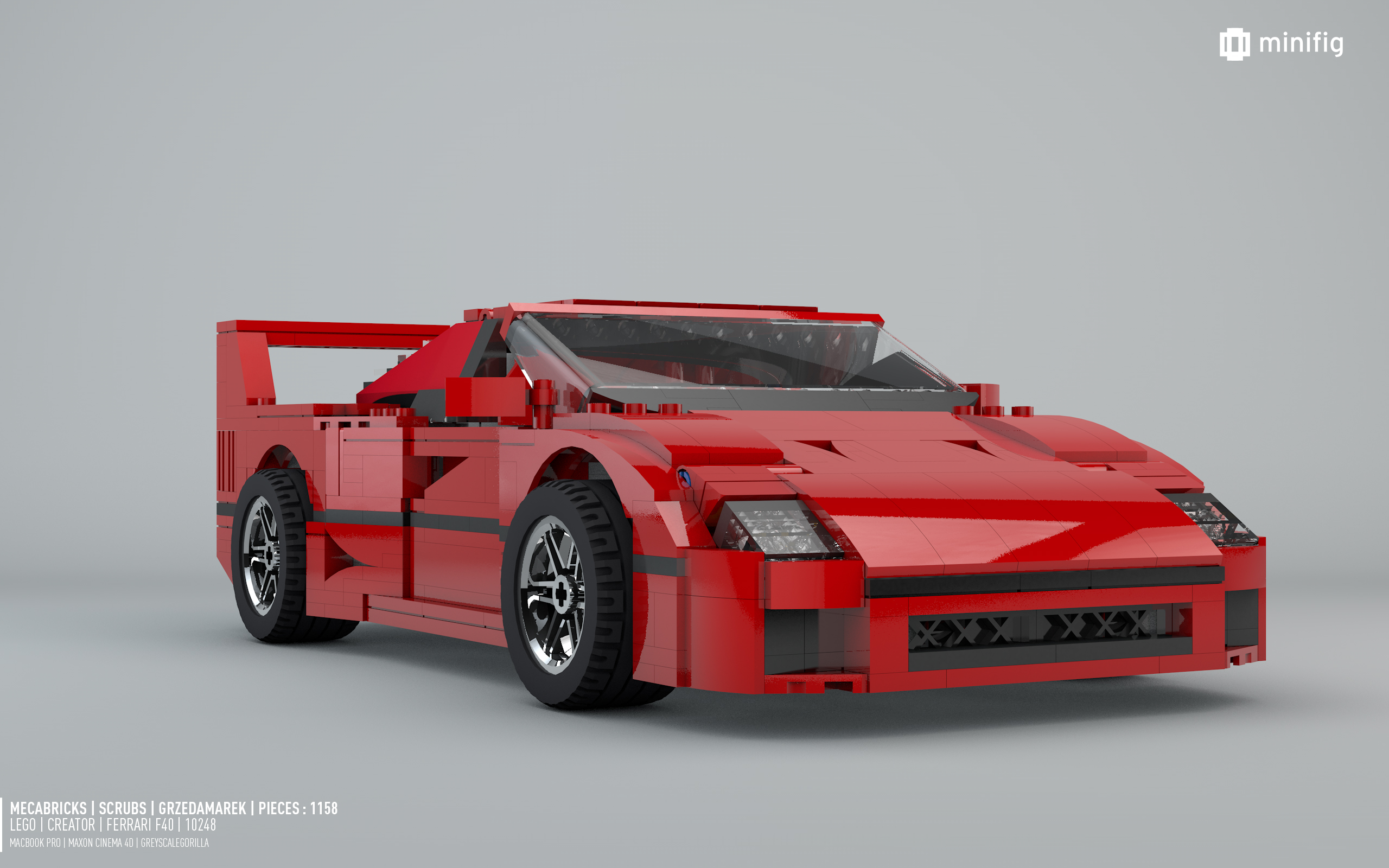 ferrari f40 10248 lego creator lego 3d review www. Black Bedroom Furniture Sets. Home Design Ideas